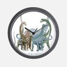 3-sauropods.png Wall Clock