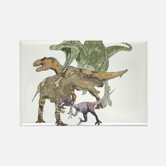 3-theropods.png Rectangle Magnet