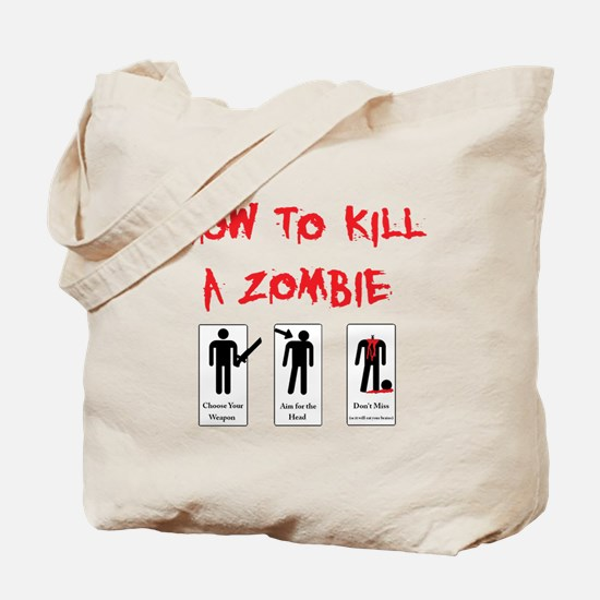 Zombie Killing 101 Tote Bag