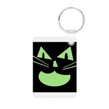 Spooky Black Cat Keychains