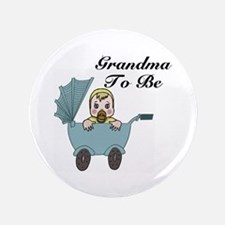 """Grandma To Be Carriage 3.5"""" Button"""