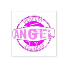 "Perfect Angel Grunge Stampe Square Sticker 3"" x 3"""