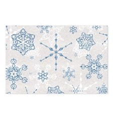 Elegant Blue and Silver Snowflake Glitz Print Post