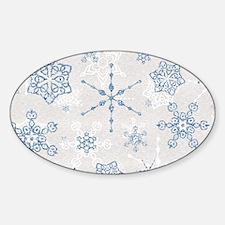 Elegant Blue and Silver Snowflake Glitz Print Stic