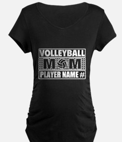 Personalized Volleyball Mom Maternity T-Shirt