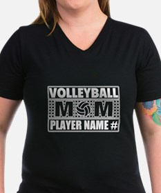 Personalized Volleyball Mom T-Shirt