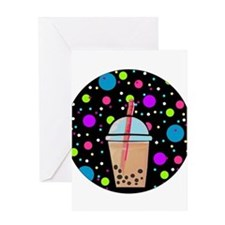 Bubble Tea Greeting Cards