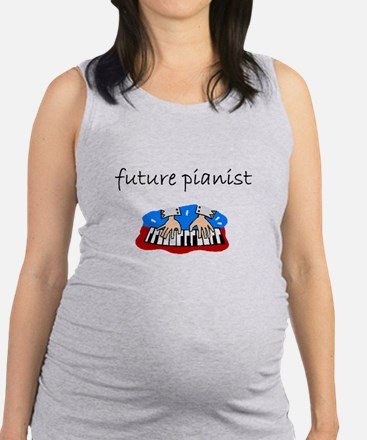 future pianist.bmp Maternity Tank Top