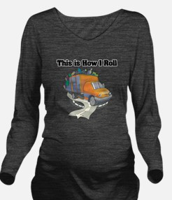 3-garbage truck.png Long Sleeve Maternity T-Shirt