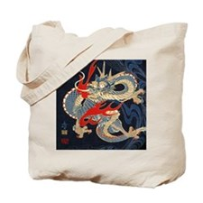 dragon japanese textile Tote Bag