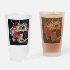 dragon japanese textile Drinking Glass