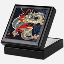 dragon japanese textile Keepsake Box