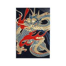 dragon japanese textile Rectangle Magnet