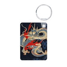 dragon japanese textile Keychains