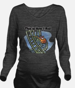 roller coaster.png Long Sleeve Maternity T-Shirt