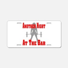 Another Night At The Bar Aluminum License Plate