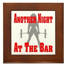 Another Night At The Bar Framed Tile