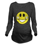 smiley-face.png Long Sleeve Maternity T-Shirt
