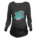 text_open.png Long Sleeve Maternity T-Shirt