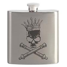 Artillery Skull Cross Cannons Flask