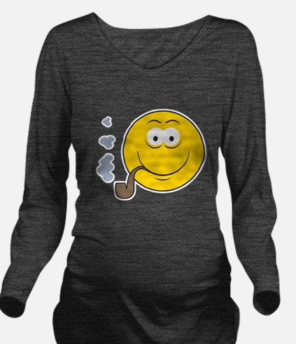 smiley15.png Long Sleeve Maternity T-Shirt