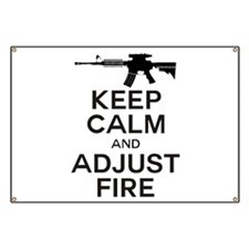 KEEP CALM ADJUST FIRE Banner