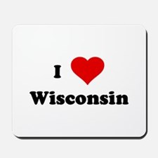 I Love Wisconsin Mousepad