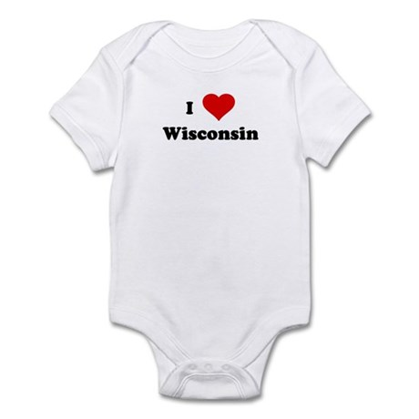 I Love Wisconsin Infant Bodysuit