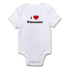 I Love Wisconsin Infant Bodysuit
