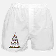 black white roses layer cake Boxer Shorts