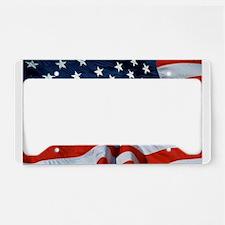 American Flag License Plate Holder