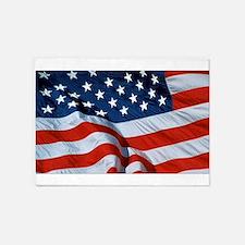 American Flag 5'x7'Area Rug