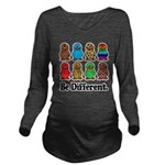 Be Different Ducks.png Long Sleeve Maternity T-Shi