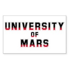 University of Mars Rectangle Decal
