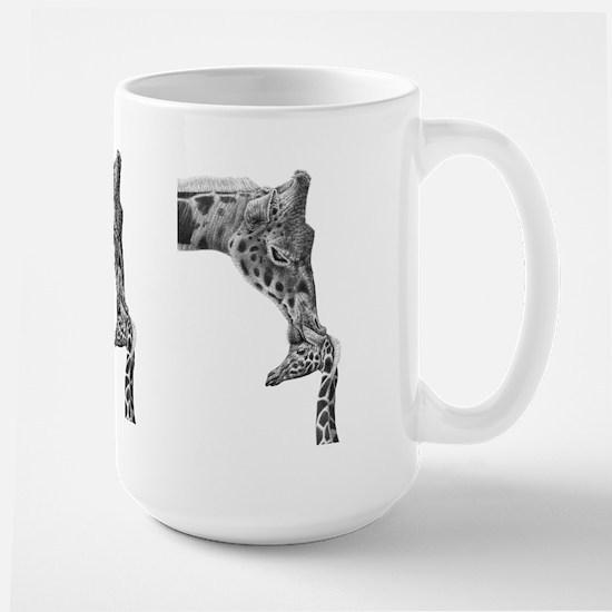 Giraffe And Calf Large Mug Mugs