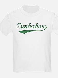 Vintage Zimbabwe (Green) Kids T-Shirt