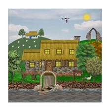 Irish River Cottage Tile Coaster