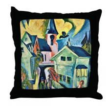 Konigstein with Red Church, famous pa Throw Pillow