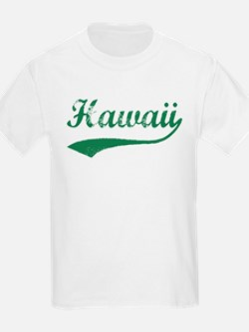 Vintage Hawaii (Green) Kids T-Shirt
