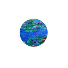 Monet - Water Lilies - 2 Red Mini Button