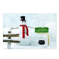 Snowman Relocation Postcards (Package of 8)