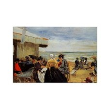 Beach Scene painting by Eugene Boudin Magnets