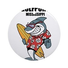 Gulfport, Mississippi Ornament (Round)