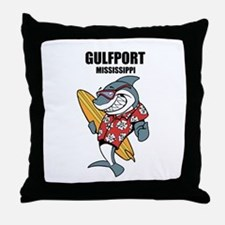 Gulfport, Mississippi Throw Pillow