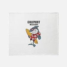 Gulfport, Mississippi Throw Blanket