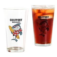 Gulfport, Mississippi Drinking Glass