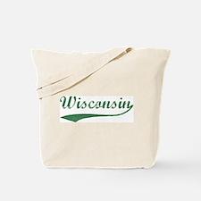 Vintage Wisconsin (Green) Tote Bag
