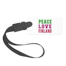 Peace Love Finland Luggage Tag