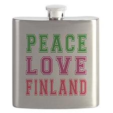 Peace Love Finland Flask