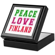 Peace Love Finland Keepsake Box